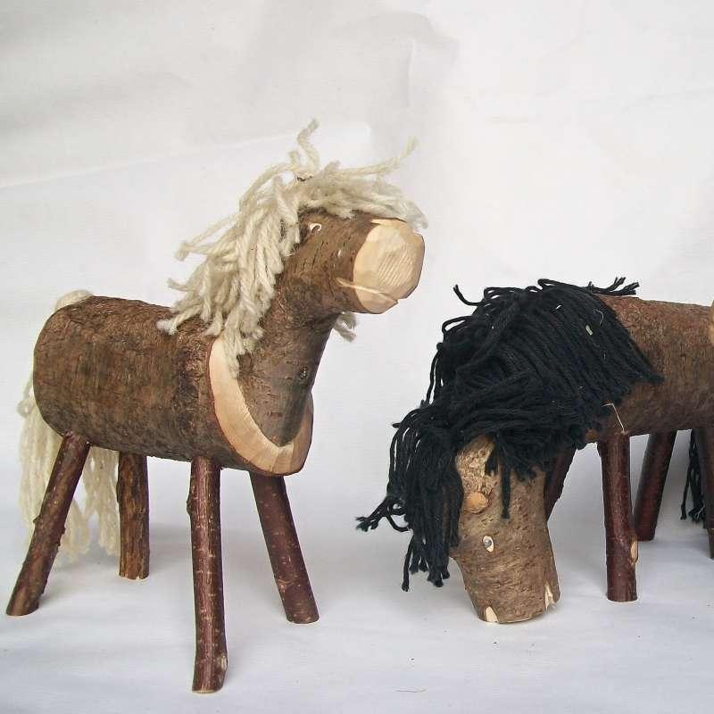 Как сделать коня из березы