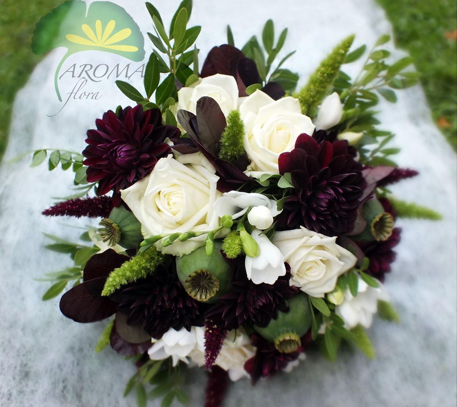 Svatební Květina ***bordó & Bílá / Zboží Prodejce