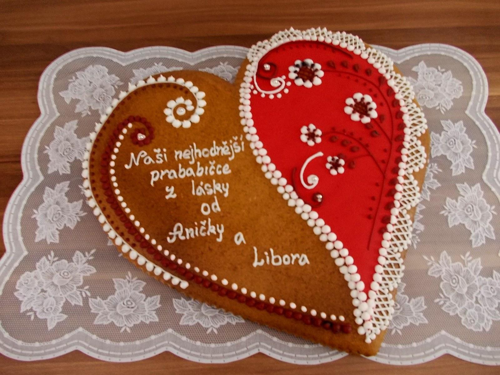 Perníkové srdce z lásky