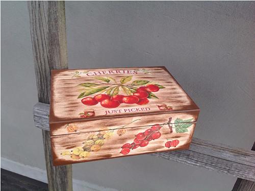 čajová krabice - třešně