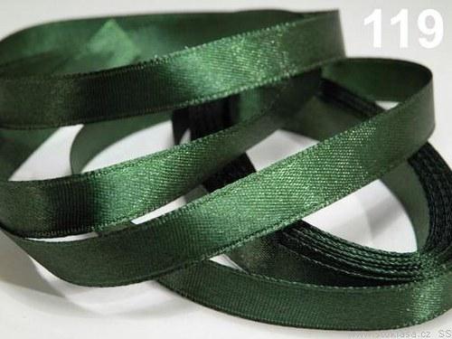 Stuha saténová š.6mm zelená tmavá