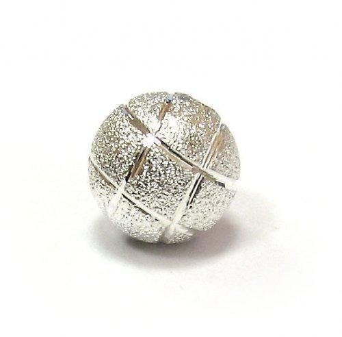 Stříbrné ozdobné perly s ornamentem - 12 mm
