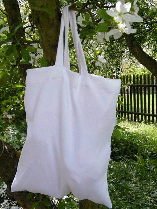 Nákupní taška bílá 30x35 cm