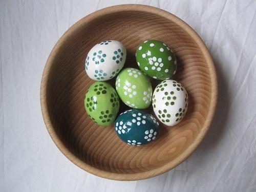 kytičkované vajíčko zelené