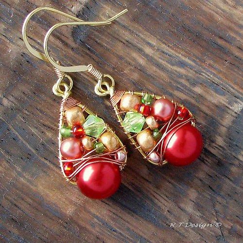 Náušnice  Wild cherry...