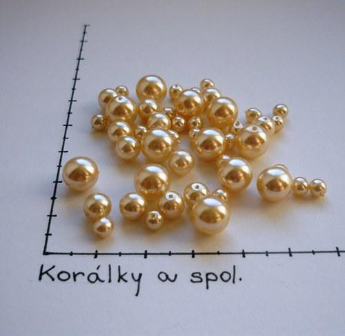 Mix českých voskovaných perel smetanových, 48 ks