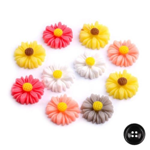 Plastová květina pr.14mm (10ks) - barevný mix