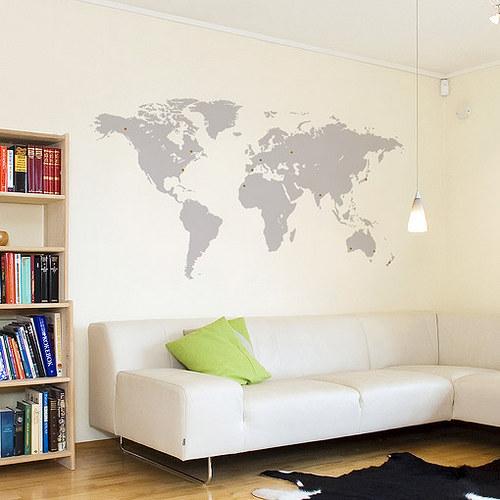 Mapa světa nejen pro cestovatele - STŘEDNÍ