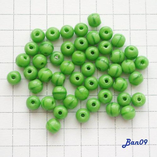 Kuličky zelené neprůhledné 3 mm