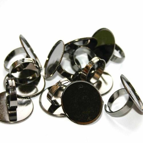 prsten s lůžkem antracit maxi