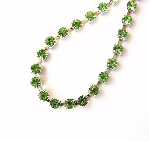 Šatonový řetěz, zelená, 2cm