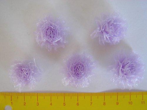 Tylové kytičky fialové (5 ks)