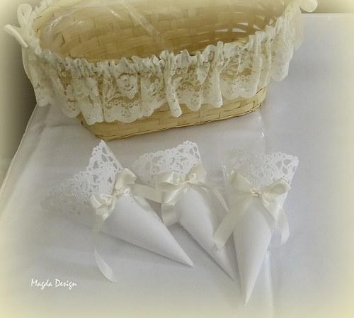 Svatební kornouty Ivory
