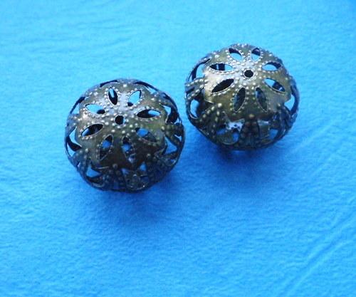Filigránové rondelky - 4 kusy