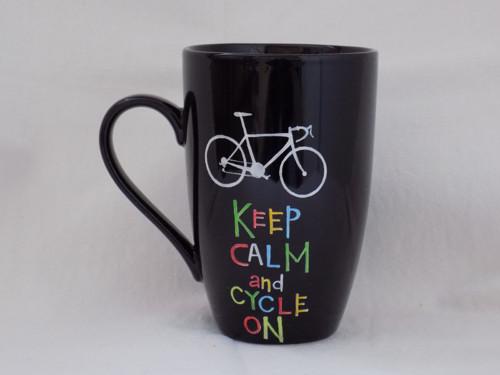 Hrnček na latte - Cycle on