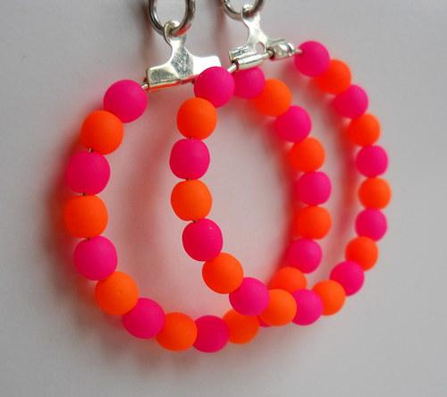 Růžovo- oranžové neonky