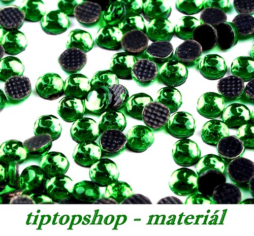 Šatonové růže HOT-FIX 4mm, green turmaline (50ks)