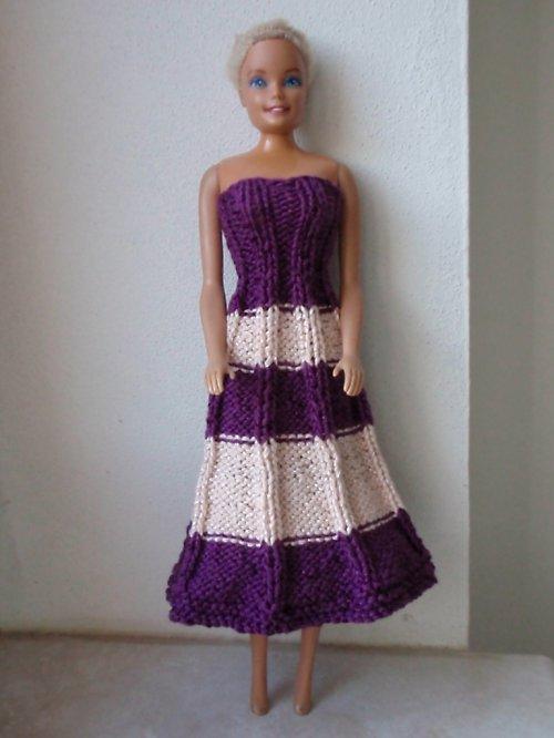 BARBIE-růžovofialové šaty
