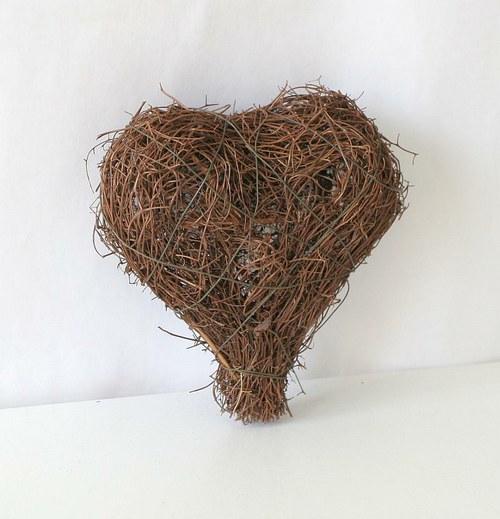 Ratanové srdce jemné 12 cm