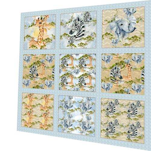 bavlněná látka - panel sada  47 x 47 cm