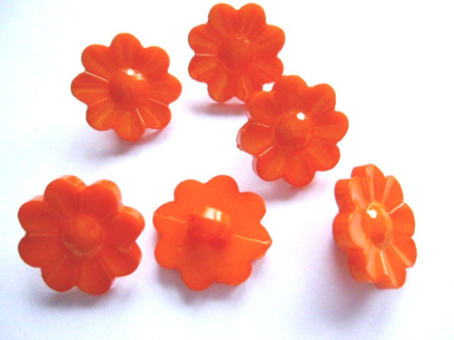 Knoflíčky kopretinky oranžové 5ks