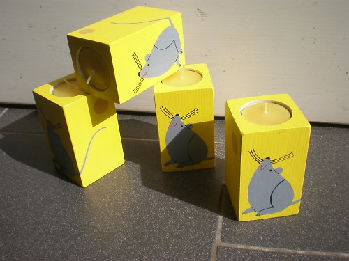 Svícen s myškou - střední