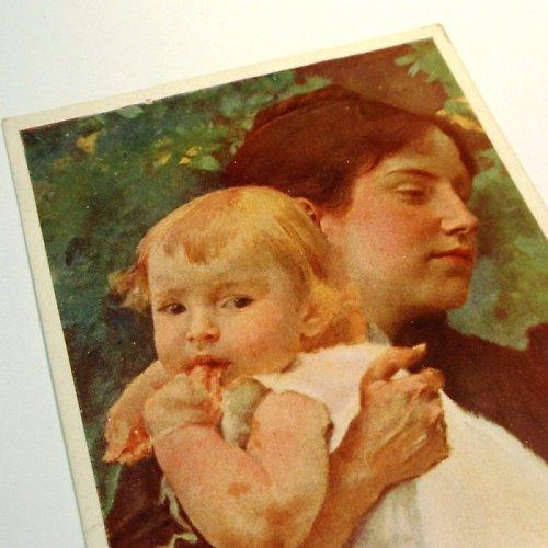 Hynais MATKA S DÍTĚTEM - pohlednice č. 1045