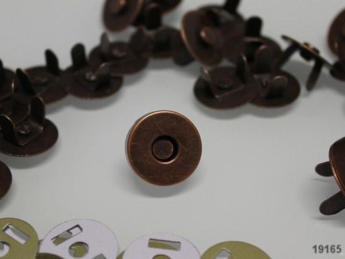 19165 magnetické zapínání měď 18mm, á  1ks