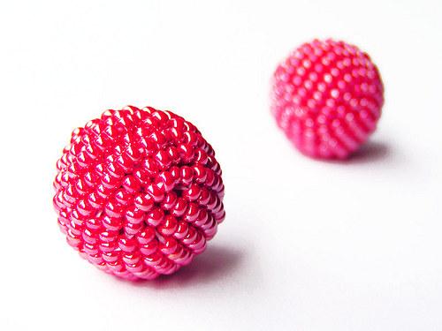 Rocailová kulička červená ((KOM30))