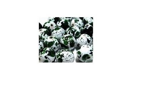 Korálky dalmatin - 20mm - zelená