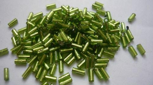 Rokajl 1x6mm skleněný v sáčku tyčinky zelené