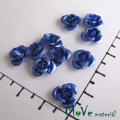 Korálek růžička 10mm, 10ks modrá