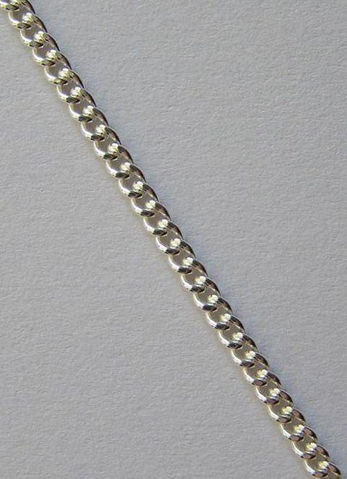 Klasický (var B) - stříbrný řetízek - délka 42cm