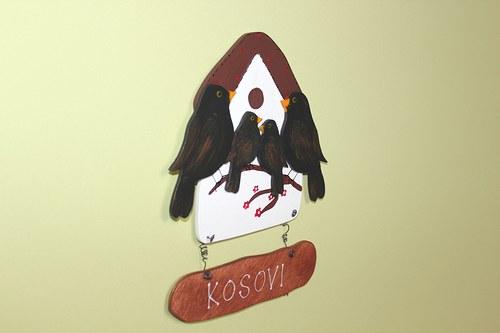 Dřevěná cedulka na dveře KOSOVI