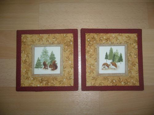 Vánoční podkafíčka veverky a ježci