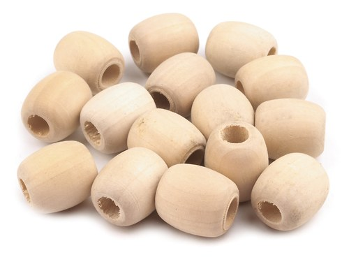 Korálek dřevěný   OVÁL- 1ks