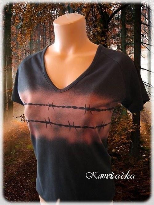 Dámské tričko-ostnatý drát