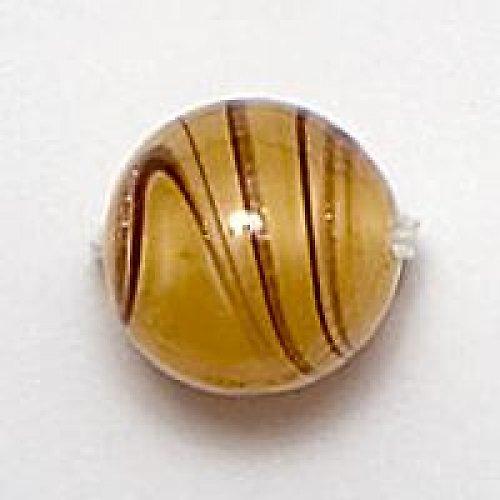 Kulička perleť a avanturín 10mm žlutá