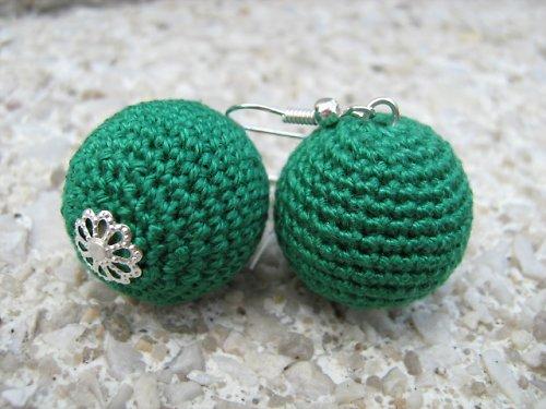 háčkované maxi kouličky- zelené