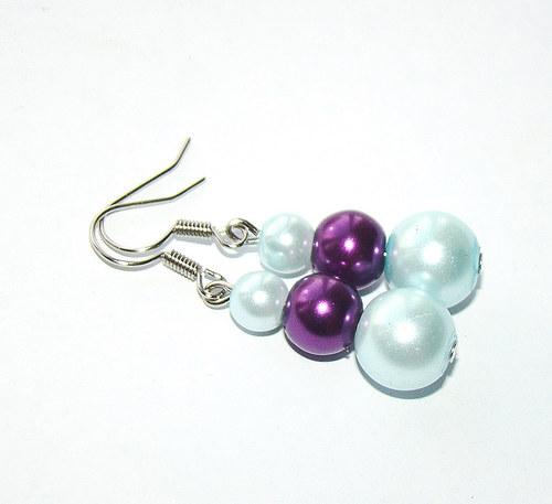 náušnice  barevné perličky