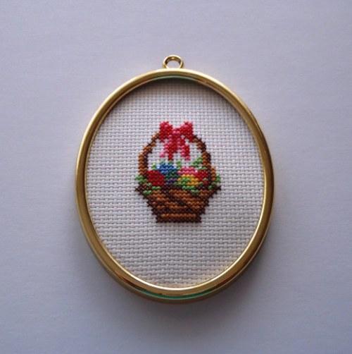 velikonoční vajíčko -košík