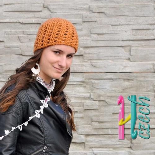 Čepice oranžová - vyberte si barvu