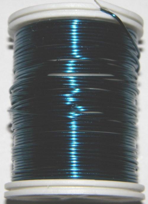 Měděný lakovaný drát 0,8 mm tmavě modrý