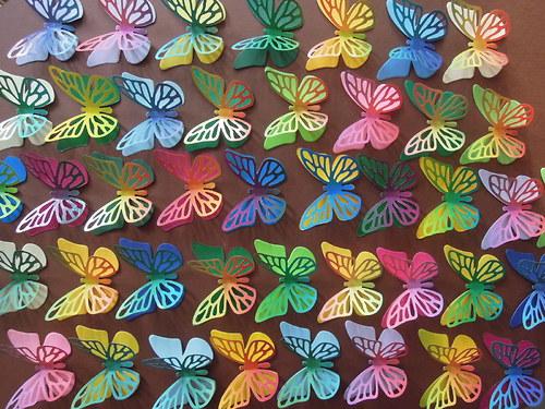 motýl - vrstvený