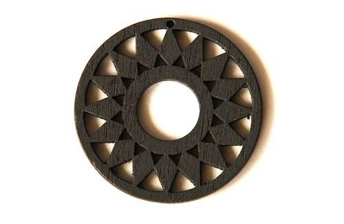 dřevěná kolečka- šedá