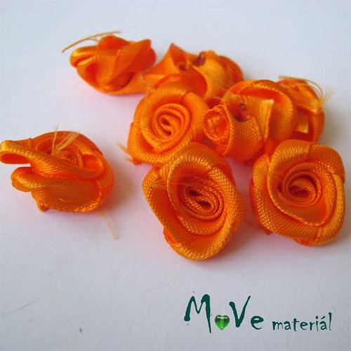 Růžička saténová oranžová Ø15mm, 10kusů