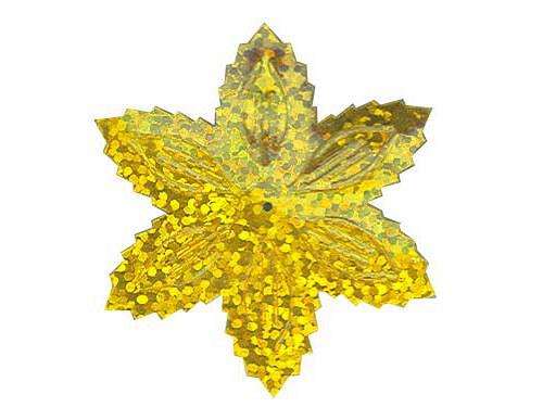 Flitry - zlatá  vánoční hvězda (1433-183) 50g