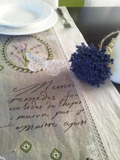 Lněný běhoun Provence