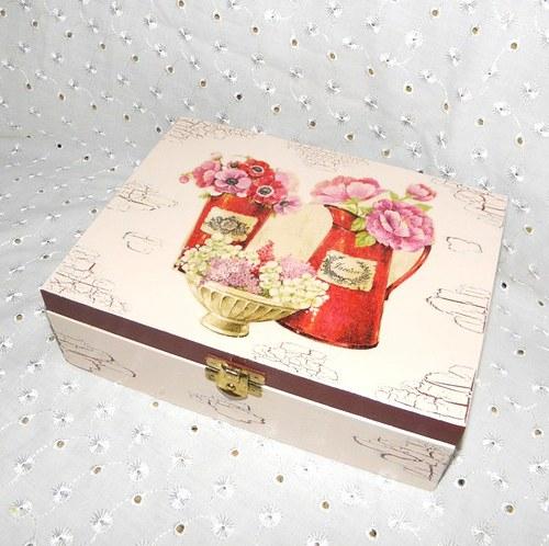 Krabička na čaj s konvičkami