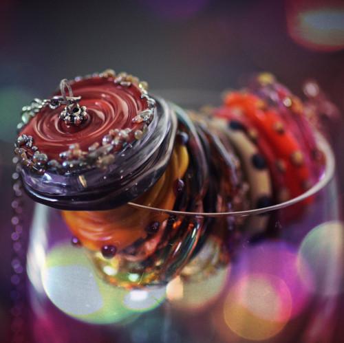 Vinuté disky - náhrdelník